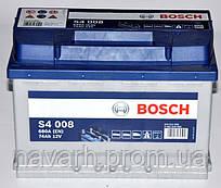 Аккумулятор BOSCH 6СТ-74 Евро (S4008)   (278x175x190),R,EN680