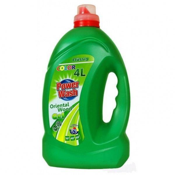 Гель для стирки Power Wash для Цветного белья 4 литра 53 стирки