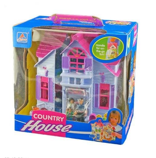 Игровой кукольный Домик  F611 раскладной с фигурками и мебелью