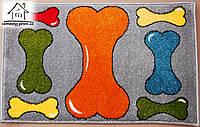 Жаккардовый коврик в прихожую Кости 80*50 см