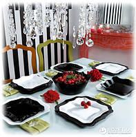 """Сервиз столовый стекло 19 предм """"Luminarc.Authentic Black & White / Noir Et Blanc"""" E6159 / 95616"""