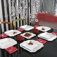 "Сервиз столовый стекло 19 предметов ""Luminarc.Authentic White"" E6197 / 95654"