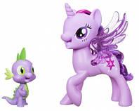 Игровой набор Твайлайт Спаркл, которая поет, и Спайк, Сияние, My Little Pony (C0718)