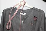 Костюм женский: серая блуза и розовая юбка, Турция, фото 4