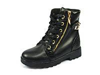 Детские зимние ботинки для девочек Clibee, эко-кожа, стелька шерсть, размеры 32-37
