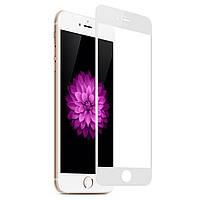 Скло iPhone 6/6S (0.3 мм, 3D, біле, повне,с олеофобним покриттям, та покриттям Silk Screen)