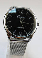 Часы наручные, Арабские + Метки, Цинковый сплав(Без кадмия), Браслет Железный, Серебро, длина 20.5cm