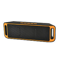Портативная bluetooth колонка MP3 плеер UKC SC-208 BT Orange, фото 1