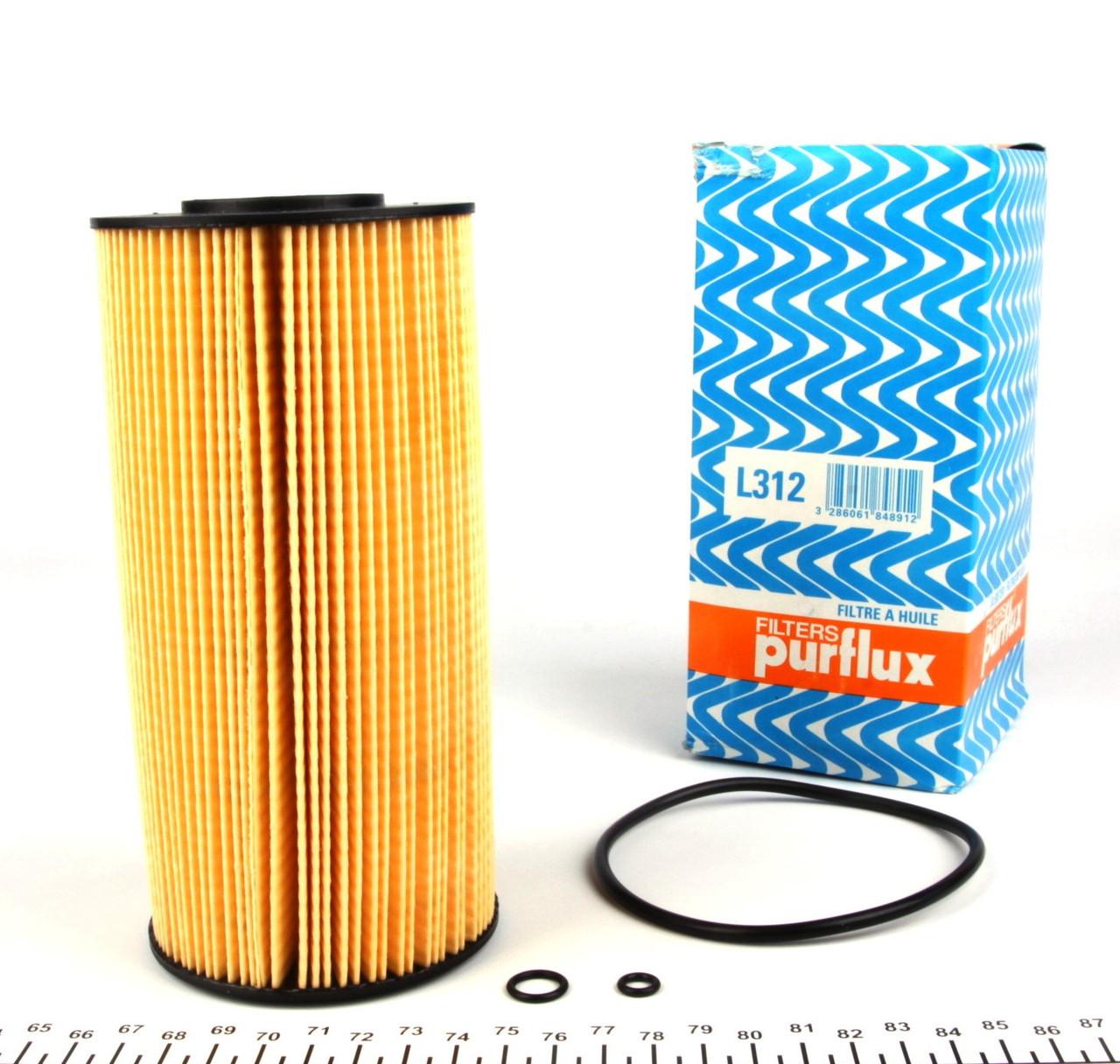 Фильтр масляный MB Sprinter 2.9TDI-1995-2006+Vito638-2.2CDI-96-03 Purflux-L312-Франция
