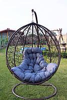 Качеля кокон, подвесное кресло с ротангу + Стойка