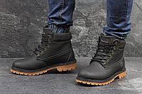 Ботинки мужские Timberland (черные), ТОП-реплика, фото 1