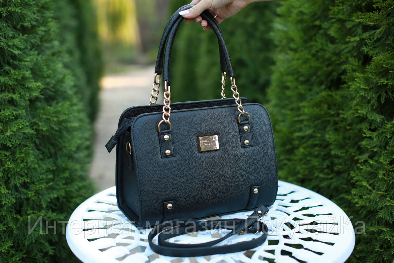 Женская кожаная сумка Ninel'  цвет Черный  - Интернет-магазин ПокупайКа в Николаеве