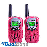 Комплект из двух раций Baofeng BF-T3 розовый