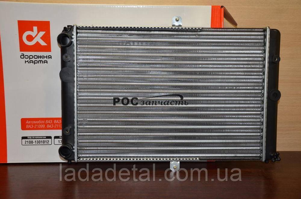 Радиатор ВАЗ 2108, 2109, 21099, 2113-2115 с карбюраторным двигателем ДК