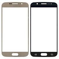 Стекло корпуса Samsung G920F Galaxy S6 gold orig