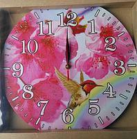 """Часы-картина настенные """"Колибри"""", кварцевые, диаметр 33 см XKC /55"""