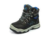Зимние детские ботинки для мальчиков Clibee, искусственная кожа, стелька шерсть,  размеры 27-28