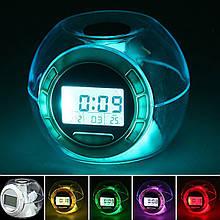 Часы Будильник 6 Nature Sound Clock 7 цветов свечения CH 502