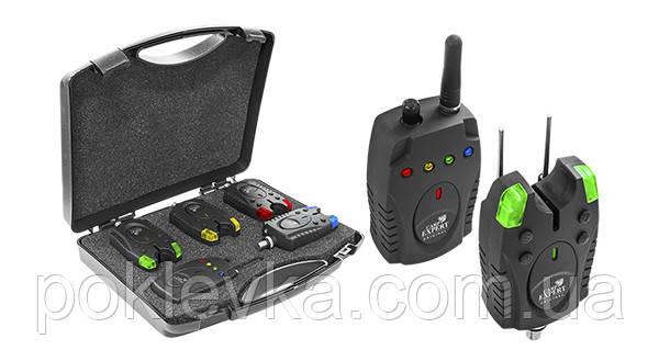 Набор сигнализаторов в кейсе Carp Expert Piave Wireless Bite Alarm Set 150 м 4+1 (78000641)