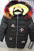 Пальто зима для девочки LUSIMING 1728 ЧЕРНЫЙ