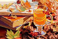 Схема для вышивки бисером POINT ART Осенний напиток, размер 30х20 см
