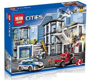Конструктор Lepin 02020 Город Полицейский участок (аналог Lego City 60141)
