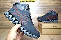Зимние мужские кроссовки+ботинки Reebok Zig Wild TR2 серые на меху