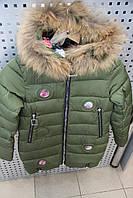 Пальто зима для девочки LUSIMING 1713 ХАКИ