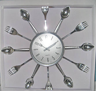 Часы кухонные Ложки-Вилки, фото 2