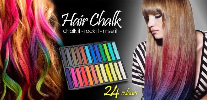 Крейда для тимчасової фарбування волосся Hair Chalk 24