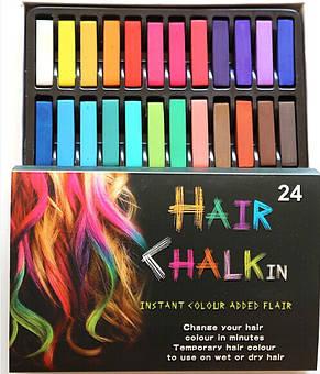 Крейда для тимчасової фарбування волосся Hair Chalk 24, фото 2