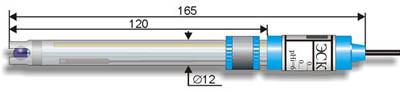 Комбинированный pH-электрод ЭСК-10609 со встроенным термодатчиком