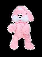 Мягкая игрушка Зайка Снежок 100 см розовый