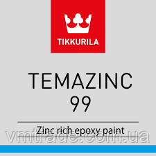 Краска с цинком Тиккурила Темацинк 99 (Temazinc 99), 6л (16кг)