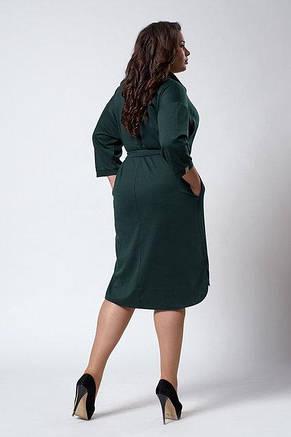 Оригинальное молодежное удобное платье - рубашка размер 52-56, фото 2