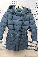 Пальто зима для девочки SNOW IMAGE SICBY-P710 ГРАФИТ