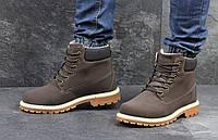Мужские ботинки Timberland (коричневые), ТОП-реплика, фото 1