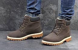 Мужские ботинки Timberland (коричневые), ТОП-реплика