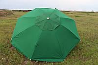 Зонт 3.5м из плотной ткани с ветровым клапаном