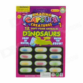 Тварини, що ростуть у воді Amazing Capsule Creatures Dinosaurs, фото 2