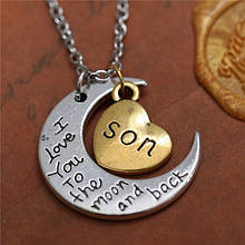 Кулон «Я люблю тебя сын до Луны и обратно»