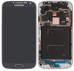 Дисплей с тачскрином Samsung i9505 Galaxy S4 черный в рамке (HQ)
