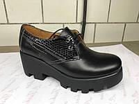 Кожаные женские туфли 38 р.