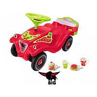 Машинка-Каталка с корзиной Bobby car classic cherry girl для пикника Big 56095  красная GL