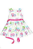 Платье детское « Совушка» розовая, пышное детское платье