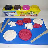 Игровое тесто «PLAY-TOYS» 4×50 грамм.(Производство-Турция)