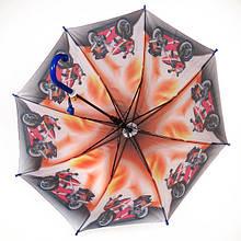Детский зонт трость для мальчиков полуавтомат, 8 спиц