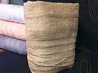 Махровое однотонное полотенце для сауны БЕЖ