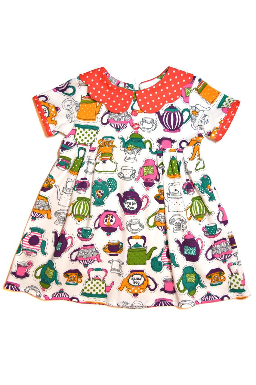 Платье детское « Чайнички »  пышное платье