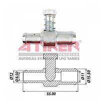 Дозатор мощности (винт жадности) Atiker 16 х 16 метал (VA.01616)